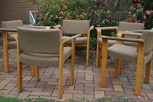 x5 Original Danish Deluxe Hardback Dining Chairs Retro Danish Brighton Bayside Area Preview