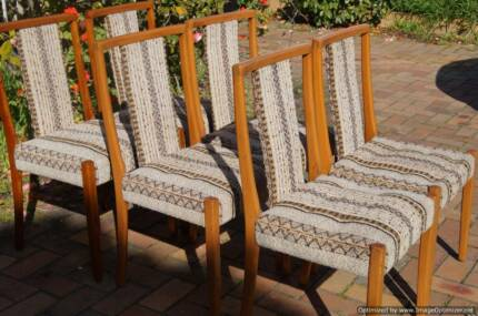 70's Dining Chair Set Vintage Danish Eames Solid Wood Framed