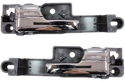 Inner Interior Inside Door Handle Metal Chrome Lever Front Left Right Pair 5 Metal Lever Handles