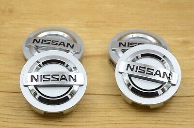 4PCS Silver Chrome logo Car Alloy Rim Wheel Center Hub Caps Fit Nissan 54 mm OEM