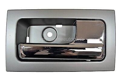 for Ford F150 Inside Door Handle Silver Gray Housing Chrome Lever Passenger Side - Ford Inside Door Handle