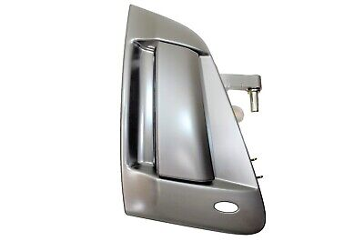 Exterior Outer Outside Door Handle Satin Chrome No Keyhole Passenger Side - 1 Door Outdoor Satin