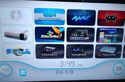 NINTENDO Wii CONSOLE + 1TB HARD DRIVE + 64GB SD CARD  MAME NES SNES NEOGEO TGX16