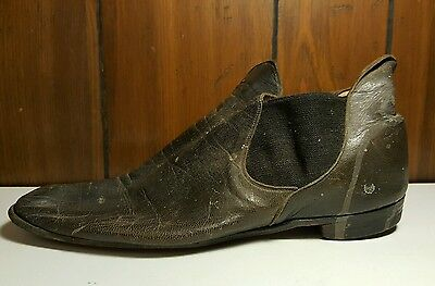 ANTIQUE HUB GORE LEATHER MEN'S SHOES BOSTON MA VICTORIAN FASHION MUSEUM QUALITY