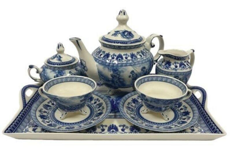 Victorian Trading Co NWD Liberty Blue Tea Set 39A