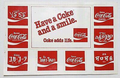 Vintage Decals - Coca Cola - Multiple Language Version
