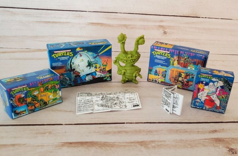 Teenage Mutant Ninja Turtles Mini TMNT Party Wagon Technodrome Sewer Krang 1:12