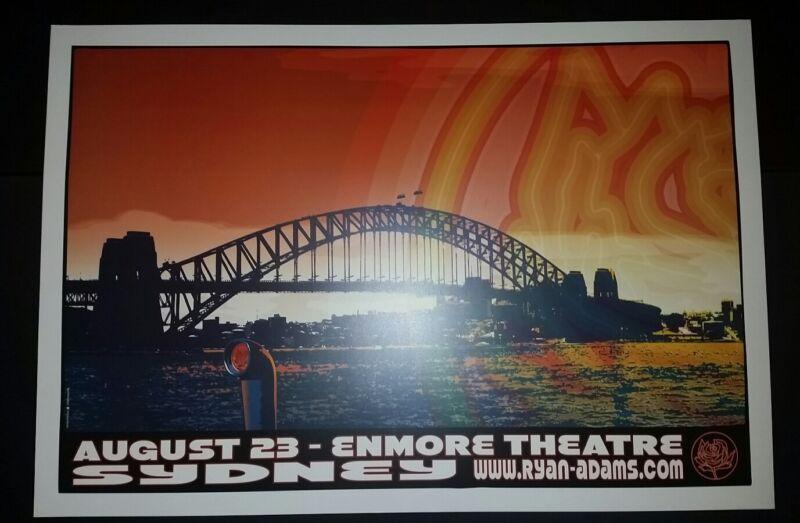 RYAN ADAMS Sydney Australia 2012 Tour Poster Cardinals Lithograph Print Opera