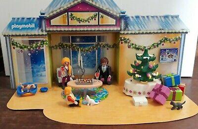 Playmobil 5496 Christmas Holiday House Family Advent Calendar Toy Light Up Tree