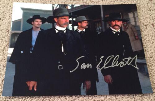 SAM ELLIOTT SIGNED AUTOGRAPH TOMBSTONE ROAD HOUSE 11x14 PHOTO G w/EXACT PROOF