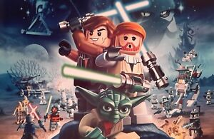 LEGO STAR WARS CHARACTERS A4 POSTER PICTURE PRINT A4 WALL ART