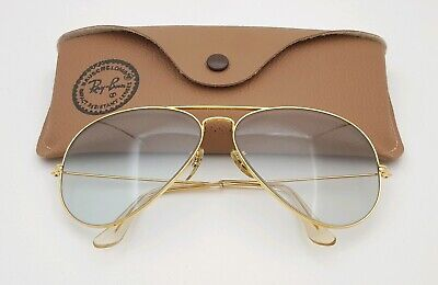 Vintage B&L Ray Ban Bausch & Lomb Gray Super Changeables 62mm Aviator (Super Cheap Ray Bans)