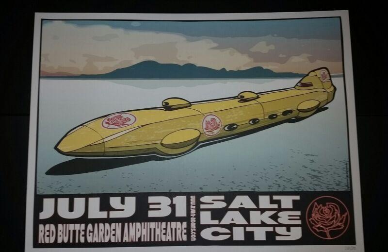 RYAN ADAMS Salt Lake City Numbered /300 2012 Tour Poster Cardinals Lithograph