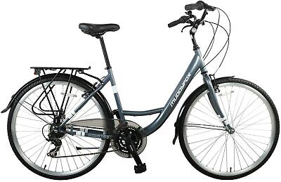 Muddyfox Unisex Voyager 100 City Bike Comfort 20 Inch Frame - Grey Ladies