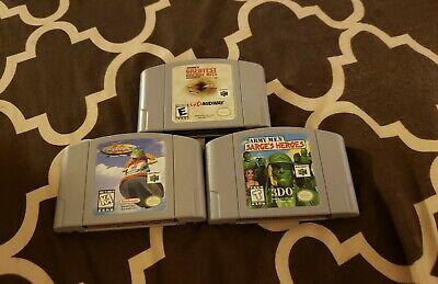 Nintendo 64 N64 lot Army Men Sarge's Heroes + 2 more games