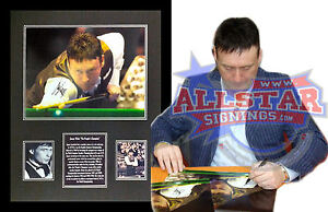 FRAMED JIMMY WHIRLWIND WHITE SIGNED SNOOKER PHOTOGRAPH SEE PROOF
