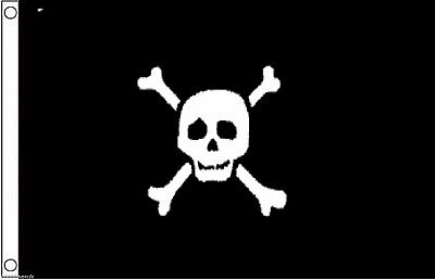 Pirate Jolly Roger Skull and Crossbones Richard Worley Variation 5'x3' Flag !