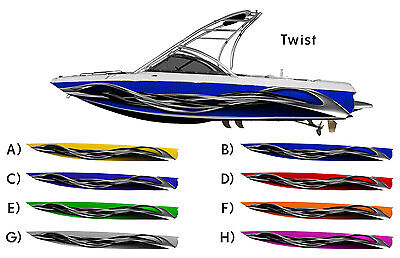 Twist Boat Wrap - Customized for your boat - Choose Your Color