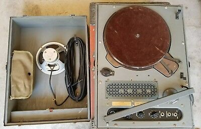 GARRARD 201.V Turntable Record Player Transcription Military Astatic Tonear Tube