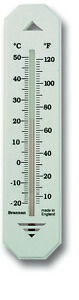 WALL THERMOMETER - INDOOR OUTDOOR GARDEN GREENHOUSE HOME OFFICE ROOM - 14/436/3