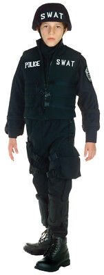 SWAT Child Boys Costume Police Uniform Career Special Forces Party Halloween