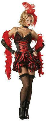 Womens Sexy Dance Hall Darlin Deluxe Burlesque Adult Saloon Girl Costume XS