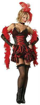 Womens Sexy Dance Hall Darlin Deluxe Burlesque Adult Saloon Girl Costume - Deluxe Burlesque Kostüm