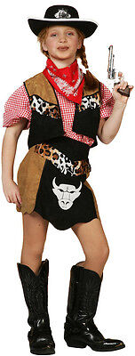 Buffalo Girl Cowboy Kinderkostüm NEU - Mädchen Karneval Fasching Verkleidung Kos