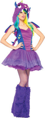 Darling Dragon Adult Women's Costume Purple Petticoat Fancy Dress Leg Avenue