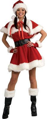 Sexy Miss Santa Erwachsene Damen Kostüm Rot Samt - Sexy Rot Erwachsene Kostüme
