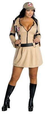 Ghostbusters Deluxe Adult Women Jumpsuit Fancy Dress Halloween Costume Plus Size
