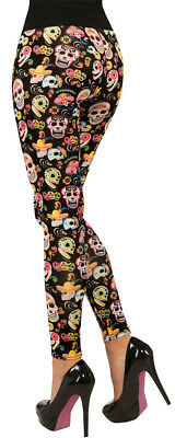 Day Of Dead Sugar Skull Leggings Costume Halloween Dress Up Forum Novelties