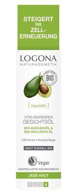 Logona vitalisierendes Gesichtsöl 30ml mit Bio-Avocado und Bio-Inca Inchi, vegan ()