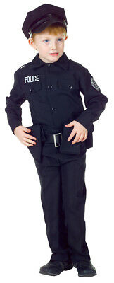 Policeman Set Child Costume Uniform Officer Cop LAPD Career Boys Work Halloween