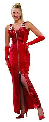 Crimson Seduction 80's Pop Star Madonna Red Cone Dress Halloween Adult Costume