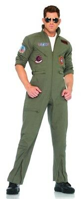 Top Gun Flight Suit Adult Costume Maverick Goose Tom Cruise Leg Avenue Halloween