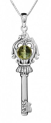 The Key of Soul Profusion Pendant Amulet Citrine Stone Silver 925