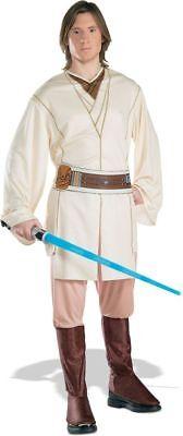 Obi Wan Kenobi Erwachsene Herren Kostüm Halloween Star Wars Filmcharakter Kleid (Erwachsene Obi Wan Kenobi Kostüm)
