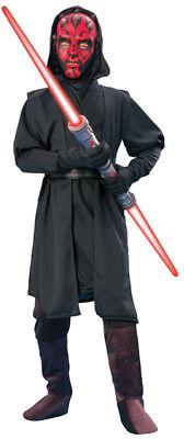Star Wars Darth Maul Phantom Menace Deluxe Kinder Kostüm Film Thema Party