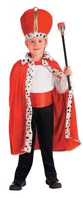 King Child Costume Red Crown & Robe With White Fur Forum - Kings Robe Fur