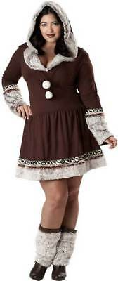 Sexy Adult Women Plus Size Eskimo Kisses Halloween Costume