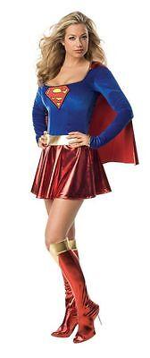 Adult Deluxe Supergirl Cape (Supergirl Deluxe 1-Piece Adult Women Costume Sexy Superhero Heroine Cape Dress)