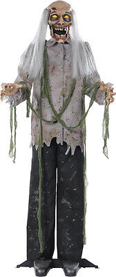 Halloween LifeSize Animated Standing ZOMBIE Animatronic Prop Haunted House NEW