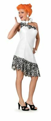 Damen The Flintstones Wilma Kleid Perücke Halskette Kostüm M - Wilma Kostüm Perücke