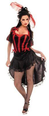 Can Schwarz Rot Sexy Mädchen Saloon Erwachsene Damen - Sexy Rot Erwachsene Kostüme