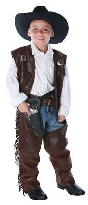 Cowboy Chaps Vest Child Boy Costume Western Rodeo Vest Chaps Halloween (Cowboy Vest Costume)