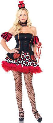 Sexy Queen of Hearts Alice Wonderland Adult Costume](Alice Of Wonderland Costumes)