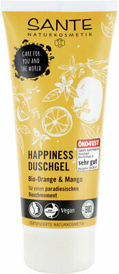 2x Sante Happiness Duschgel Bio Orange & Mango 200ml, vegan, Naturkosmetik