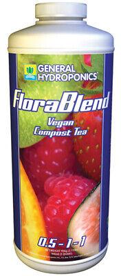 General Hydroponics FloraBlend Vegan Compost Tea -  Plant Booster QUART .5-1-1