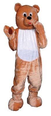 Teddybär Maskottchen Kinder Kostüm Tier Overall Halloween (Kind Maskottchen Kostüme)